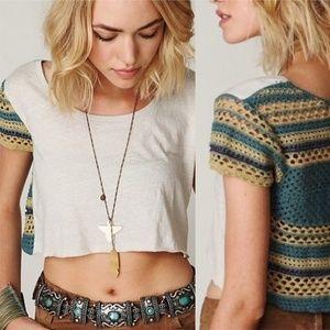 Free People Tops - Free People • We The Free Aldus Crochet Crop Top S